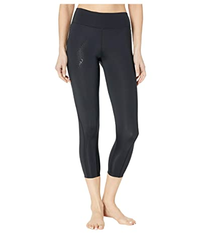 2XU Mid-Rise Compression 7/8 Tights (Black/Dotted Black Logo) Women