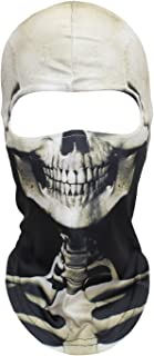 WTACTFUL 3D Skeleton Mask Scary Skull Balaclava Ghost Skull Cosplay Costume Halloween Party Full Face Mask