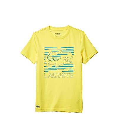 Lacoste Short Sleeve Graphic Cotton Tee (Lemon/Cuba) Men
