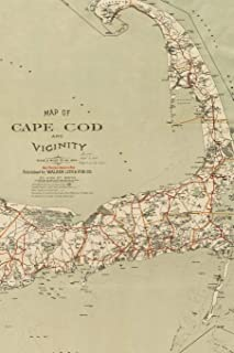 1909 Map of Cape Cod and Vicinity: A Poetose Notebook / Journal / Diary (100 pages/50 sheets) (Poetose Notebooks)