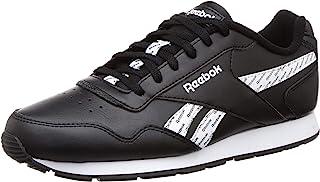 حذاء رياضي للجري جلد برباط وطبعة شعار جانبية مختلفة اللون للنساء من ريبوك رويال جلايد