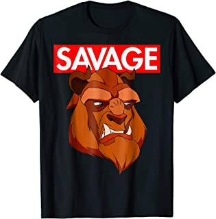 Disney Beauty & the Beast Savage Face Graphic T-Shirt