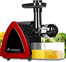 Aobosi Slow Masticating juicer Extractor, Cold Press Juicer Machine, Quiet Motor, Reverse Function, High Nutrient Fruit an...