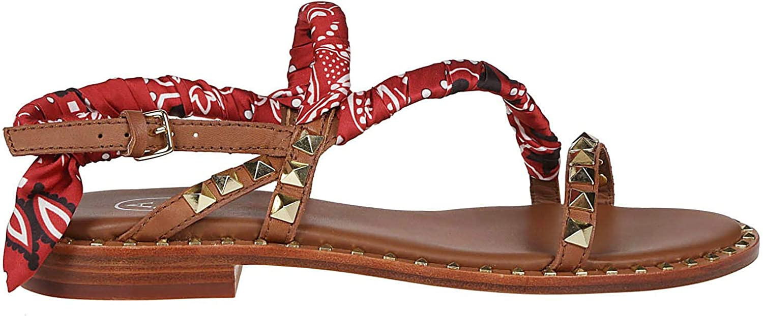 Ash Women's PATTAYA02 Red Leather Sandals