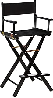 "Casual Home Director's Chair ,Black Frame/Black Canvas,30"" – Bar Height"
