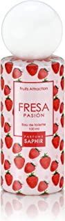 PARFUMS SAPHIR  Fruits Attraction Fresa  Eau de Toilette con Vaporizador para Mujer - 100 ml