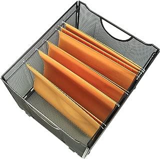 YIMU Collapsible Metal Mesh File Organizer Storage Box, Black, L15