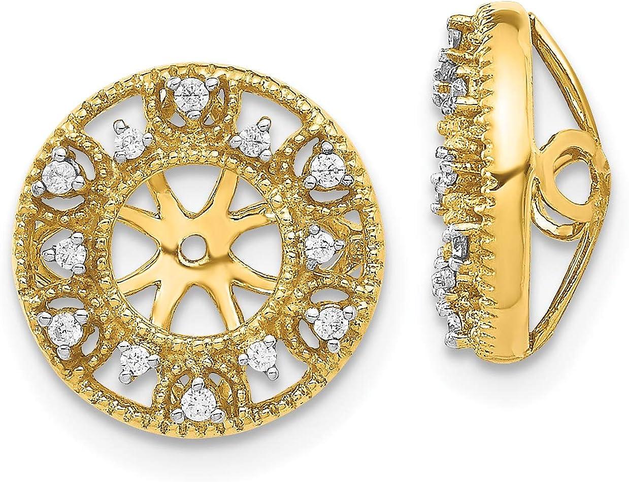 14k White Gold Fancy Diamond Earring Jacket