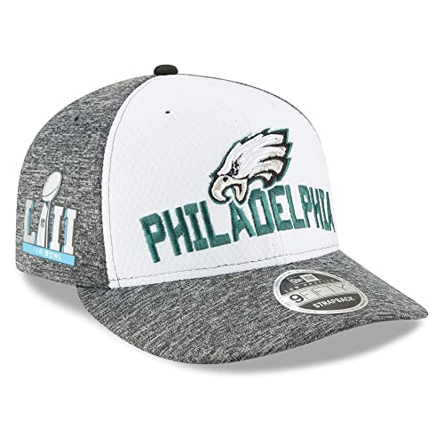 959369bb2 New Era Philadelphia Eagles Super Bowl LII 52 9Forty Snapback Media Day  Opening Night Hat Cap