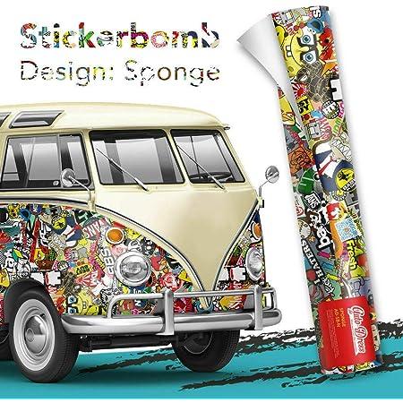 Alle Designs Alle Größen Stickerbomb Auto Folien Glänzend Oder Matt Marken Sticker Bomb Logos Jdm Aufkleber 100x150cm N Bunt Glänzend Küche Haushalt