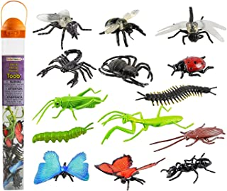 Safari Ltd Insects TOOB - Comes With 14 Toy Figurines - Including Caterpillar, Dragonfly, Centipede, Grasshopper, Ladybug,...