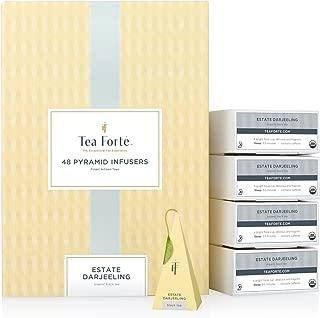 Tea Forte BULK PACK Estate Darjeeling Black Tea, 48 Handcrafted Pyramid Tea Infusers