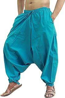 Sarjana Handicrafts Uomo Donna Cotone Harem Yoga Baggy Genie Hippie Pants