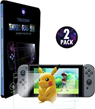 [2-Pack] Nintendo Switch Screen Protector, TEB [Tempered Glass] [9H Hardness] [Touch Sensitive] [0.3mm Ultra Thin] [Ultra Clear] [Heat Resistance] [Anti-Scratch, Anti-Fingerprint] [Shatter proof]