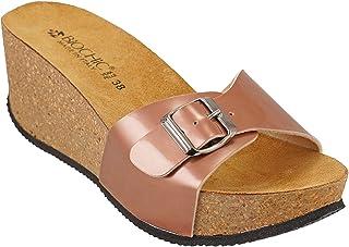 012-305 Biochic Ladies Sandals Patent Leather Neutral