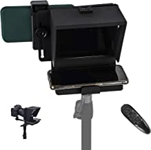 Spolehli Teleprompter TMP Adjustable Smart Phone/DSLR Teleprompter 7.5' with Big Screen & Bluetooth Remote Portable for Recording No Assembly Required (Only teleprompter)