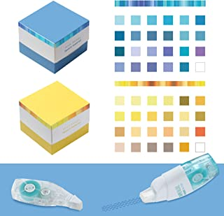 STAPENS Memo Pads, Multi-colored Note Pads with Adhesive Dot Roller for Scrapbooking & DIY Craft Supplies, School Project...