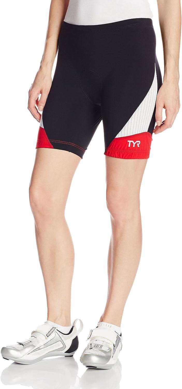 TYR Sport RFSB6A002L Women's Carbon 6Inch Tri Compression Shorts