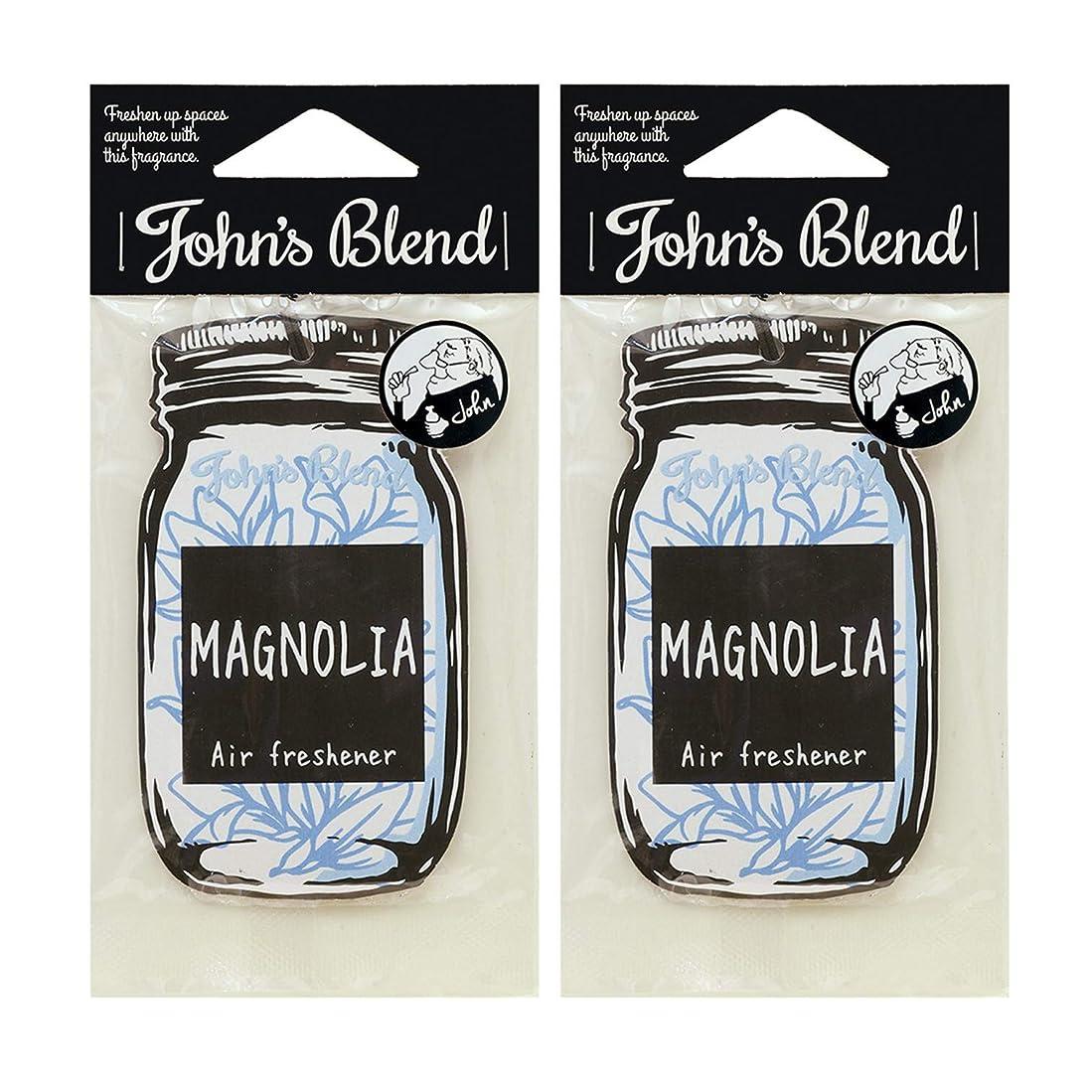 創造ミュウミュウ考えるノルコーポレーション John's Blend ルームフレグランス エアーフレッシュナー OA-JON-1-7 マグノリアの香り セット 2枚セット