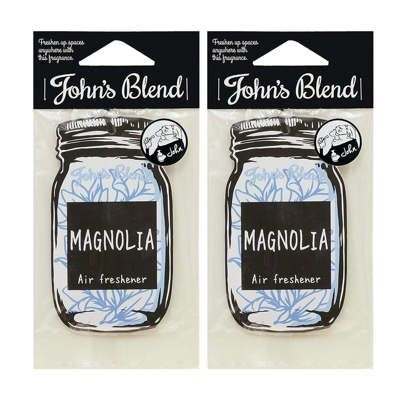 フィールド信念合計ノルコーポレーション John's Blend ルームフレグランス エアーフレッシュナー OA-JON-1-7 マグノリアの香り セット 2枚セット