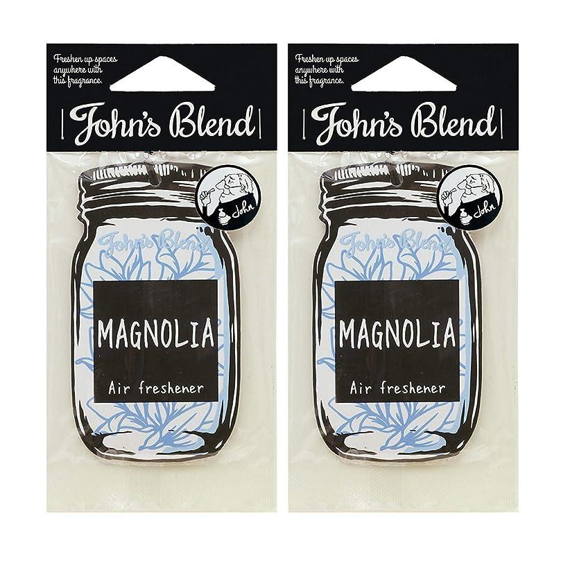 支配的静かな電信John's Blend ルームフレグランス エアーフレッシュナー 2枚セット マグノリア の香り