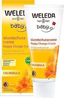 WELEDA Baby Calendula Wundschutzcreme, Naturkosmetik Wundsalbe / Babycreme für den Schutz empfindlicher Babyhaut im Windel...