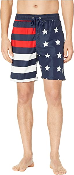 US Flag Swim Shorts