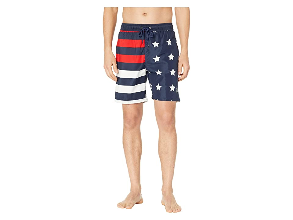 U.S. POLO ASSN. US Flag Swim Shorts (Classic Navy) Men