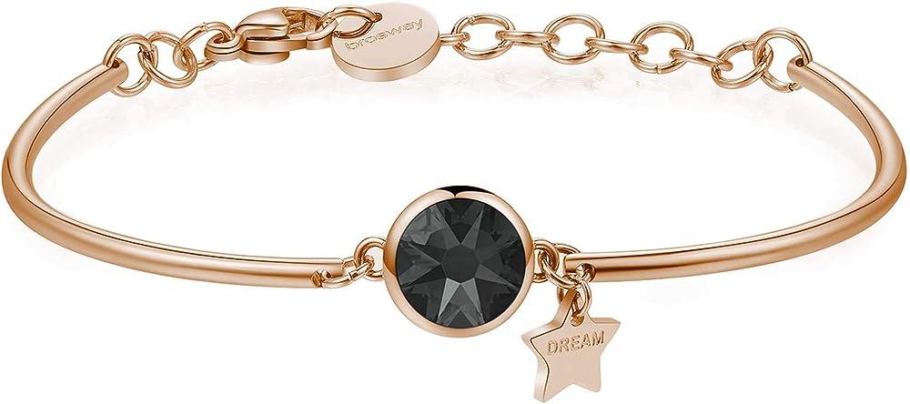 Brosway bracciale chakra - sogno per donna,in acciaio e pvd oro rosa con cristalli swarovski BHK246