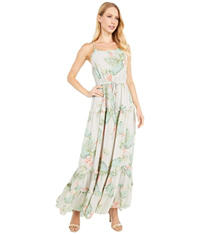 LOST + WANDER Lost in Paradise Maxi Dress (Taupe Tropical) Women