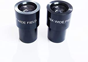 Anand traders pair of wide field 16x microscope eyepiece for binocular microscope,3 element coated optics