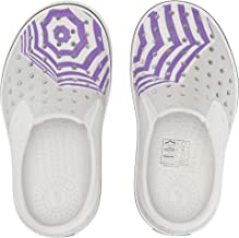 Native Kids Shoes Girl's Miles Print (Toddler/Little Kid) Shell White/Shell White/Mist Grey/Techno Umbrella 4 Toddler