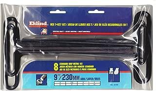 EKLIND 35198 Std Grip Hex T-Key allen wrench - 8pc set Metric MM sizes 2-10 (9In shaft)