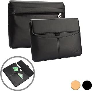 Cooper Envelope [Premium Business Travel Portfolio] Case for Asus Transformer Book T200TA / T300 Chi / T300FA | Leather Bag, Card Slot Pocket (Black)