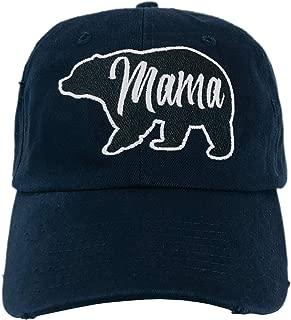 Mama Bear Velcro Hat Cute Mothers Day Baseball Cap