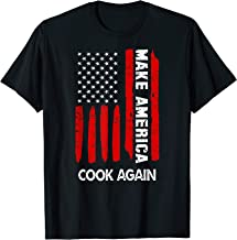 Forth 4th Of July Gift Funny Outfit Make America Cook Again T-Shirt