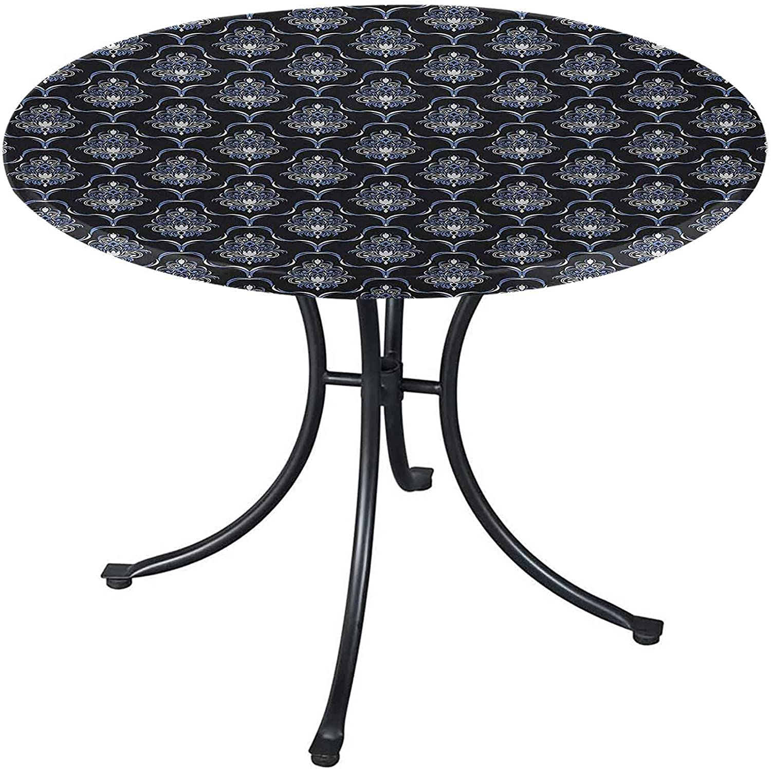 Dark Blue Round Table Cover 54