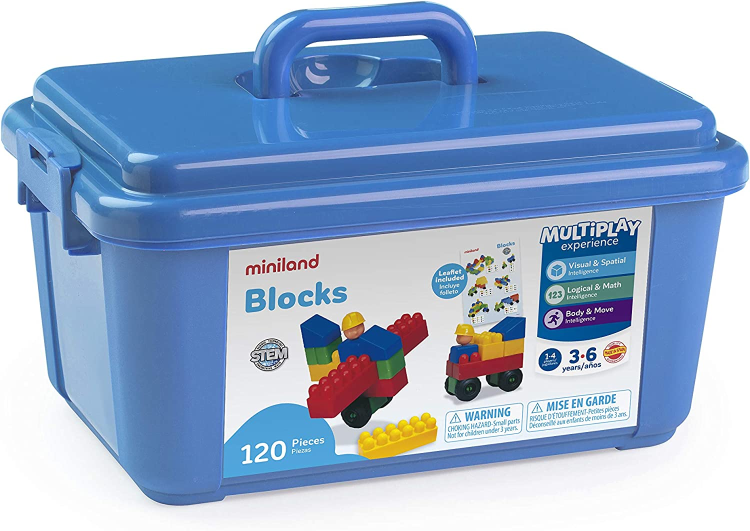 Miniland Educational - Blocks 120 Container Pieces Outlet sale feature Finally popular brand