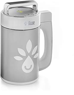 Mr. Butter Maker TM herbal botanical infuser and extractor countertop device, includes heat resistant silicone glove, 80 micron filter bag, strainer and plastic cup with grip handle.