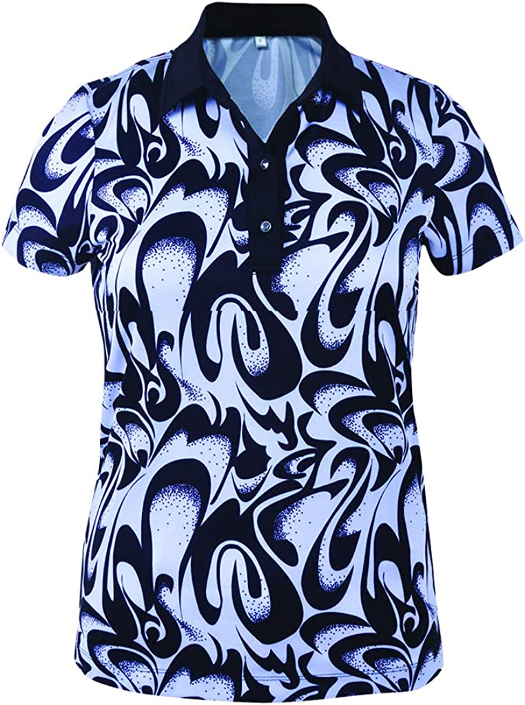 Monterey Selling and selling Club Women's Abstract Cheap Print #2404 Shirt Polo