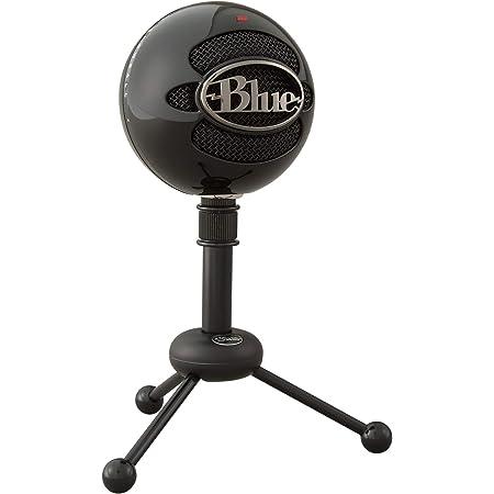 Blue Micrófonos USB Snowball, micrófono clásico de calidad de estudio para grabación, podcasting, radiodifusión, retransmisión de gaming en Twitch, locuciones, vídeos de YouTube en PC y Mac - Negro