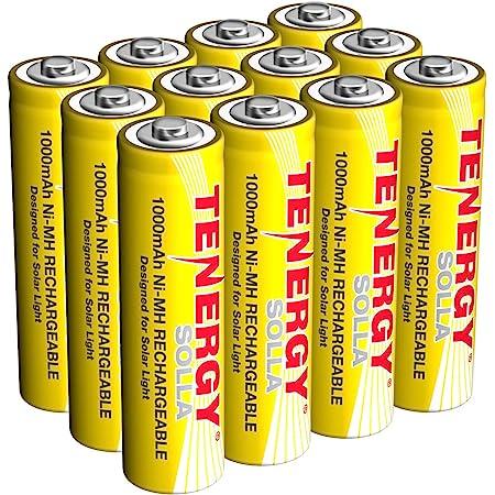Batteries for Solar Garden Landscape Light 14500 4 pcs Tenergy 1.2V Rechargeable NiCd AA