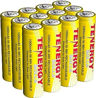 Tenergy Solla Rechargeable NiMH AA Battery, 1000mAh Solar Batteries for Solar Garden..