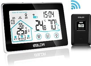 c96046d8c Enshant Termómetro Higrómetro Digital, Estacion Meteorologica Inalambrica  Interior Exterior Monitor de Humedad y termómetro WiFi