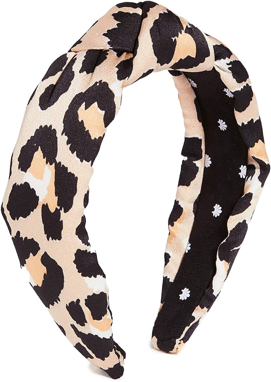 Lele Sadoughi Women's Silk Leopard Knotted Headband