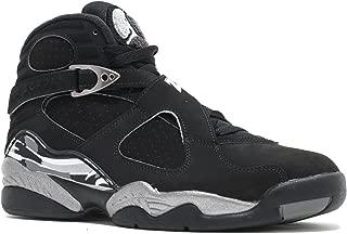 Nike Jordan Mens Air Jordan 8 Retro Black/White/Lt Graphite Basketball Shoe 9 Men US