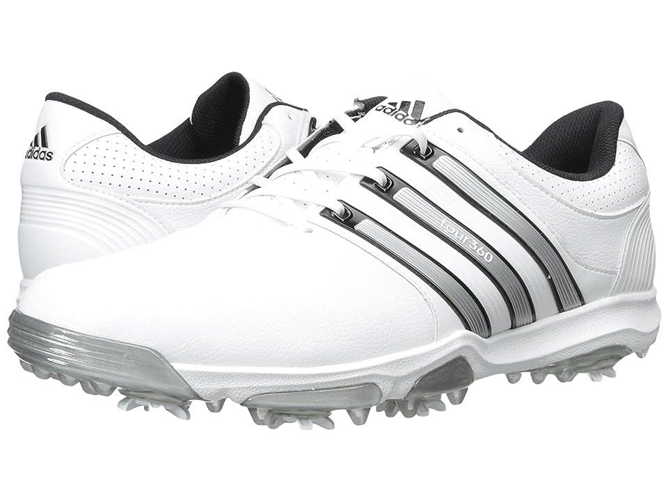 adidas Golf Tour 360 X (Running White/Silver Metallic/Core Black) Men's Golf Shoes