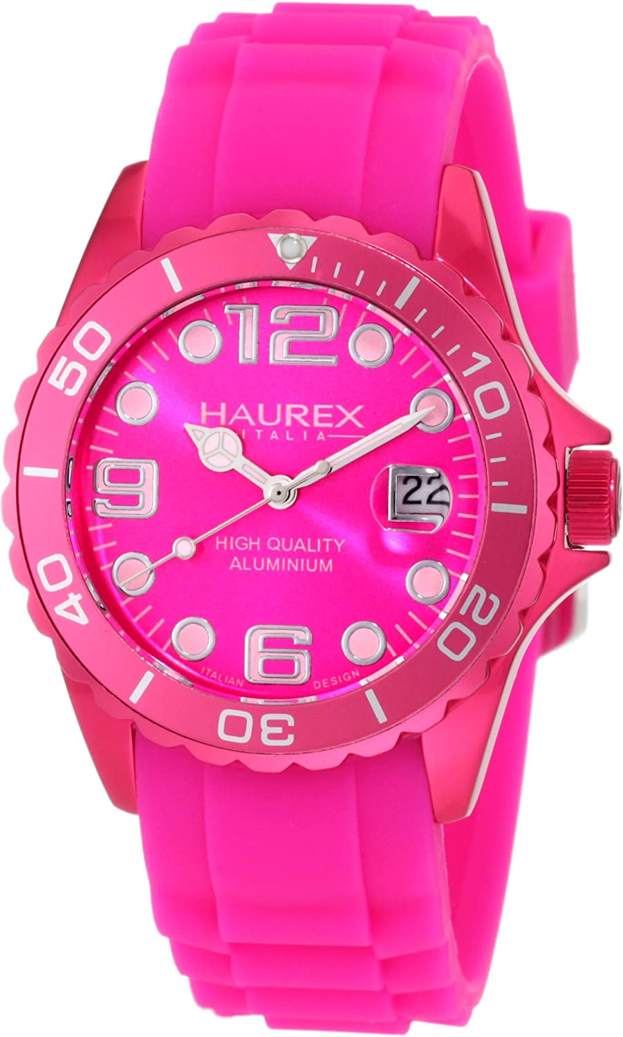 Haurex Italy Women's 1K374DP2 Ink Hot Rubber Pink Band Aluminum Animer and price revision Spring new work