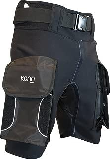 Kona Wetsuit Scuba Diving Tech Shorts PRO Series with Pockets - 2mm Neoprene: Diving, Scuba, Snorkeling, Surfing