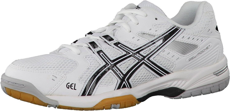 ASICS Gel-Rocket Running shoes Wht Blk Silver